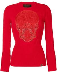 rote Bluse von Philipp Plein