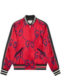 rote Bomberjacke von Gucci