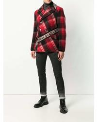 rote Cabanjacke mit Schottenmuster von Dolce & Gabbana