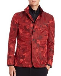 Rote camouflage jacke