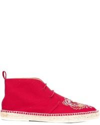 rote Chukka-Stiefel aus Leder von Kenzo