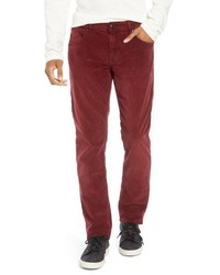 rote Cord Chinohose