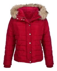 Modische rote Daunenjacke für Damen für Winter 2019 kaufen   Damenmode f324dbdb29