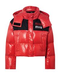 rote Daunenjacke von Miu Miu