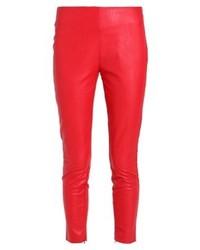 rote enge Hose aus Leder von Aaiko