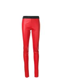 rote enge Hose aus Leder von Drome