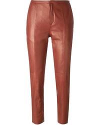 rote enge Hose aus Leder von Forte Forte