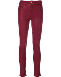 rote enge Hose aus Leder von Frame
