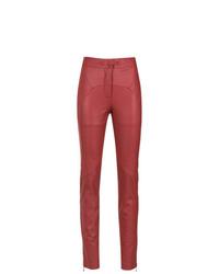 rote enge Hose aus Leder von Lilly Sarti