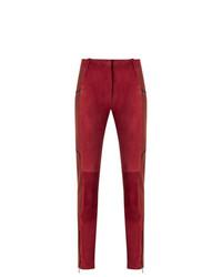 rote enge Hose aus Leder von Reinaldo Lourenço