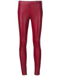 rote enge Hose aus Leder von Roberto Cavalli