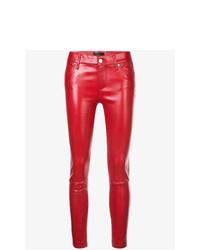 rote enge Hose aus Leder von RtA