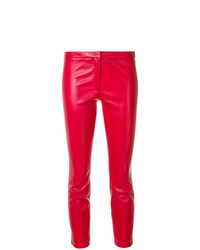 rote enge Hose aus Leder von Theory