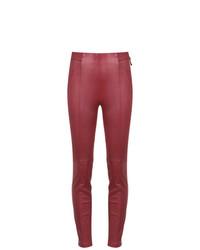rote enge Hose aus Leder von Tufi Duek