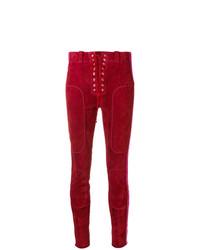 rote enge Hose aus Leder von Unravel Project