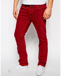 rote enge Jeans aus Cord von Nudie Jeans