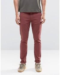 rote enge Jeans von Asos
