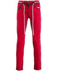 rote enge Jeans von Off-White