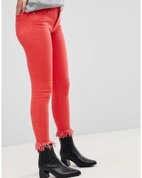 rote enge Jeans von Only