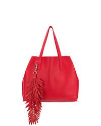 rote Shopper Tasche aus Leder mit Fransen von P.A.R.O.S.H.