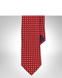 rote gepunktete Krawatte
