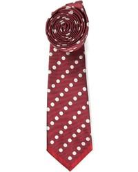 rote gepunktete Krawatte von Valentino