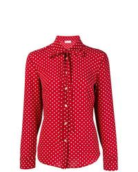 rote gepunktete Langarmbluse von RED Valentino