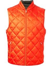 rote gesteppte ärmellose Jacke von Alexander McQueen