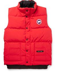 rote gesteppte ärmellose Jacke von Canada Goose