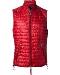 rote gesteppte ärmellose Jacke von Duvetica