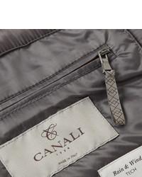 rote gesteppte ärmellose Jacke von Canali