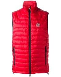 rote gesteppte ärmellose Jacke von Ralph Lauren