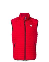 rote gesteppte ärmellose Jacke von Rossignol