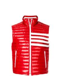 rote gesteppte ärmellose Jacke von Thom Browne