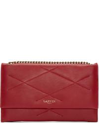 Rote gesteppte Leder Clutch von Lanvin