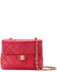 rote gesteppte Leder Umhängetasche von Chanel