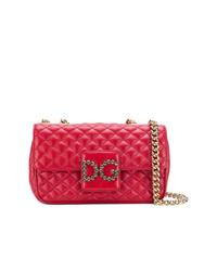 rote gesteppte Leder Umhängetasche von Dolce & Gabbana