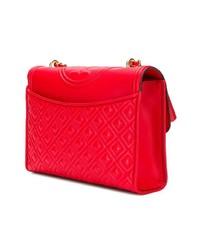rote gesteppte Leder Umhängetasche von Tory Burch