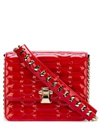 rote gesteppte Leder Umhängetasche von Roberto Cavalli
