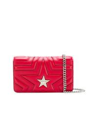 rote gesteppte Leder Umhängetasche von Stella McCartney