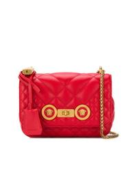 rote gesteppte Leder Umhängetasche von Versace