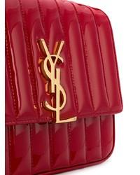 rote gesteppte Leder Umhängetasche von Saint Laurent