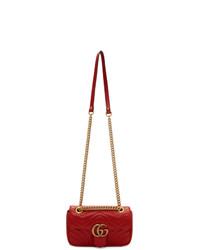rote gesteppte Satchel-Tasche aus Leder von Gucci