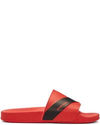 rote Gummi Sandalen von Diesel