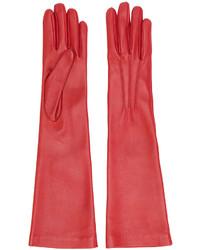 rote Handschuhe von Jil Sander