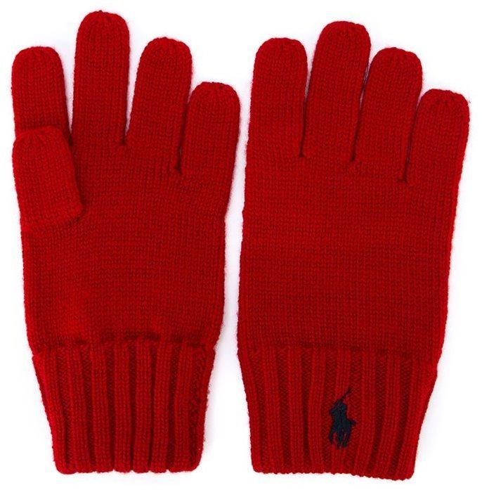 rote Handschuhe von Ralph Lauren