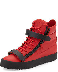 rote hohe Sneakers