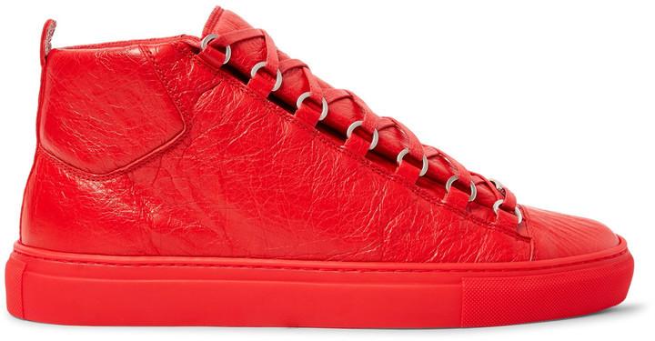 14894e5bcef2f5 ... rote hohe Sneakers von Balenciaga ...