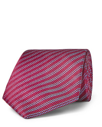 rote horizontal gestreifte Krawatte von Charvet