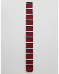rote horizontal gestreifte Krawatte von Original Penguin